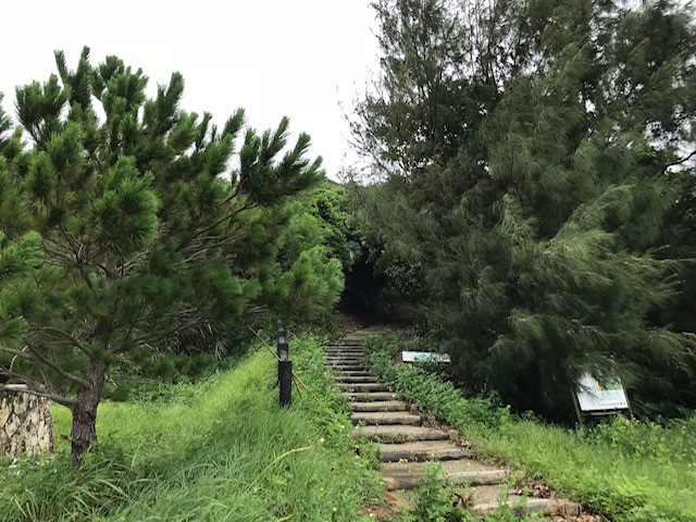小浜島の絶景への階段