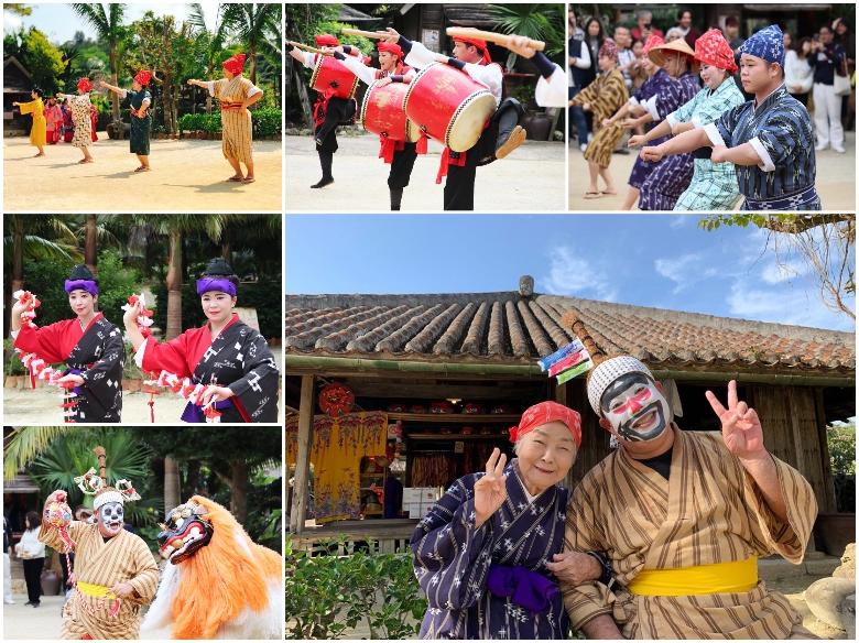 エイサー体験が出来る琉球村