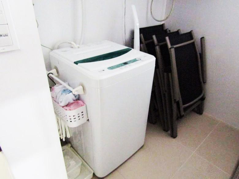 コンドミニアムには洗濯機も完備