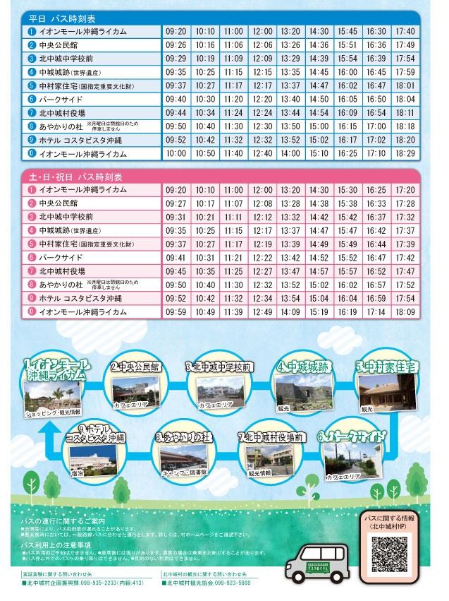 北中バスの時刻表