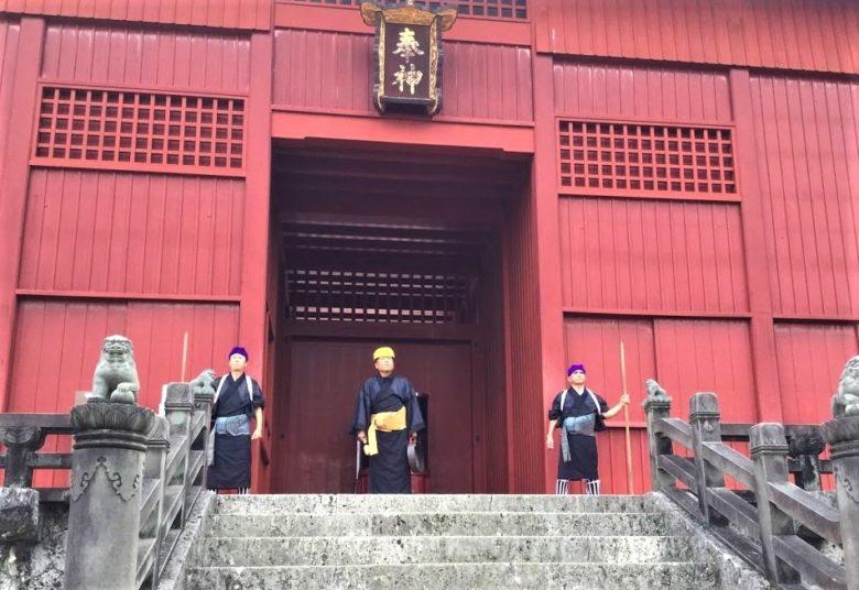 首里城御開門の儀式