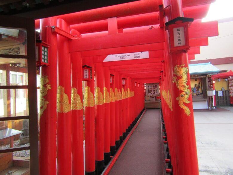 達磨寺赤い鳥居